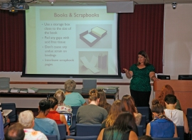 Gaylord's Archival Products' Amanda Rose conducted a well-attended preservation workshop in Orlando on October 1st.